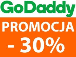 Promocja 30% na domeny w Godaddy