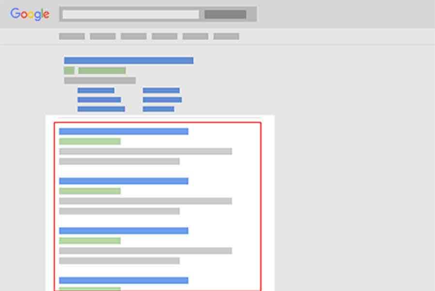 organiczne wyniki wyszukiwan w google